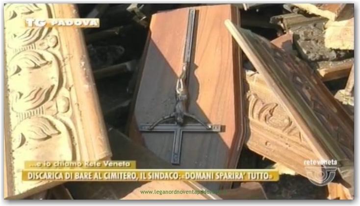Discarica di bare al Cimitero di Noventa Padovana – ReteVeneta 2016-12-30