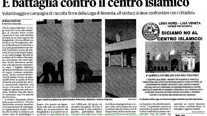 Il Mattino di Padova – 18 luglio 2012