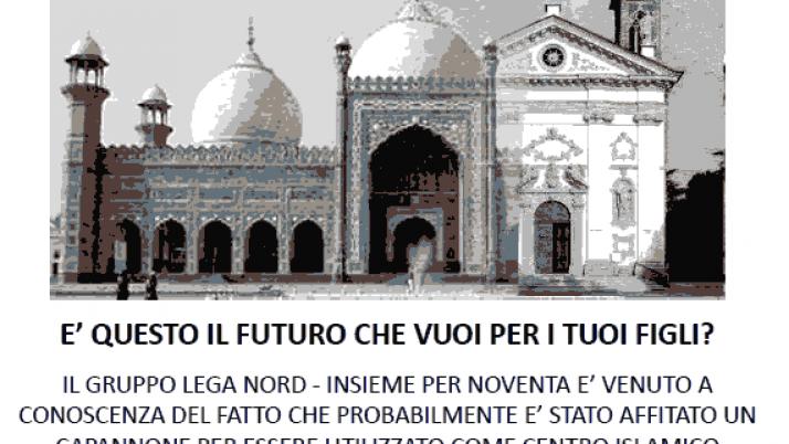 """Volantino """"No al centro islamico"""""""