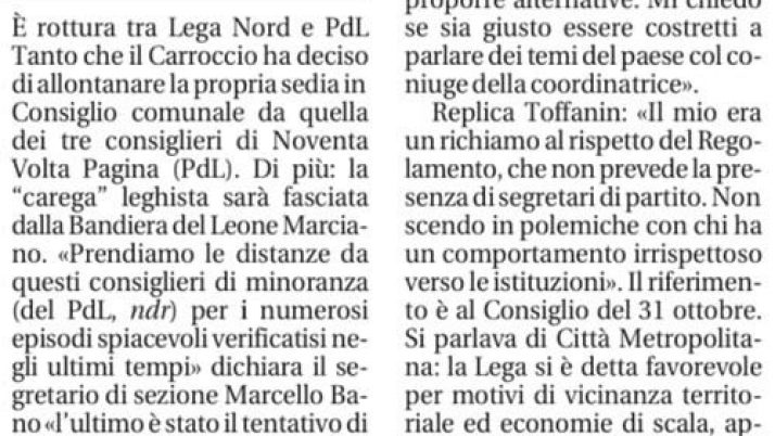 Il Mattino di Padova – 27 novembre 2012
