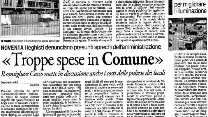 Il Gazzettino – 11 Gennaio 2013