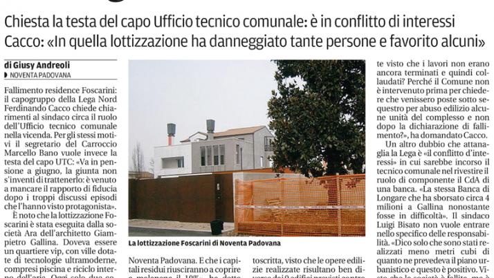 2 febbraio 2013 – Il Mattino di Padova