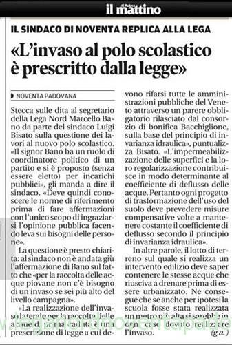 Il Mattino di Padova – mercoledì 10 agosto 2013