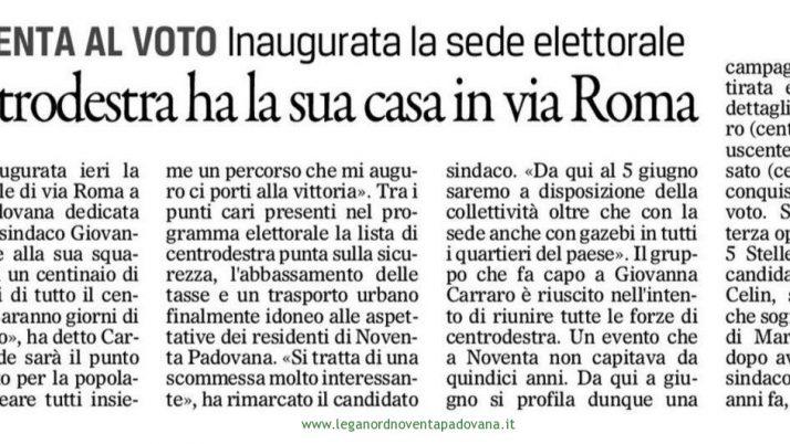 Il Gazzettino di Padova 17 aprile 2016