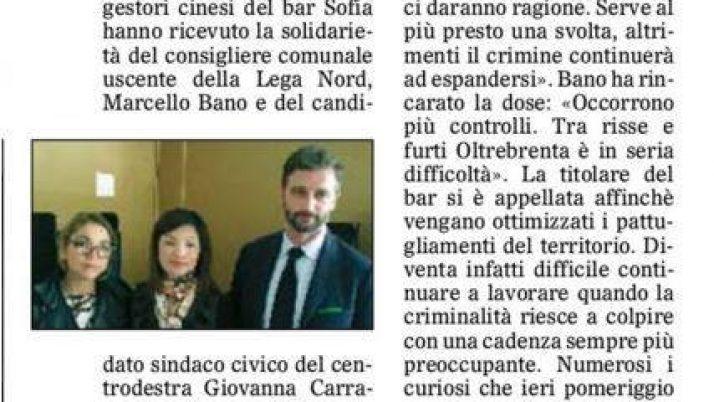 Il Gazzettino di Padova 15 aprile 2016