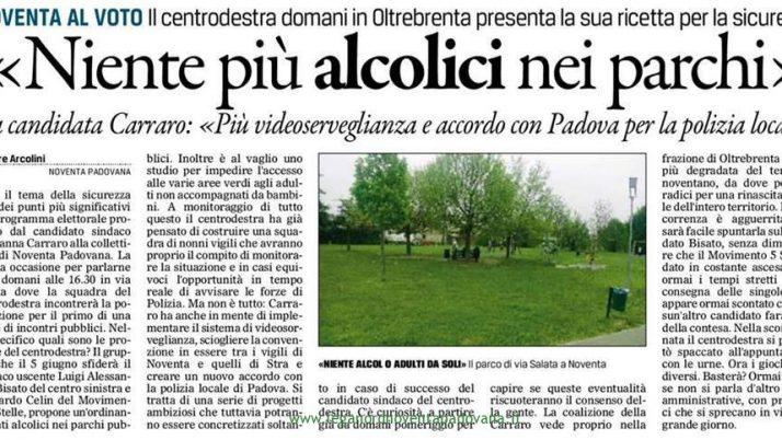Il Gazzettino di Padova 29 aprile 2016