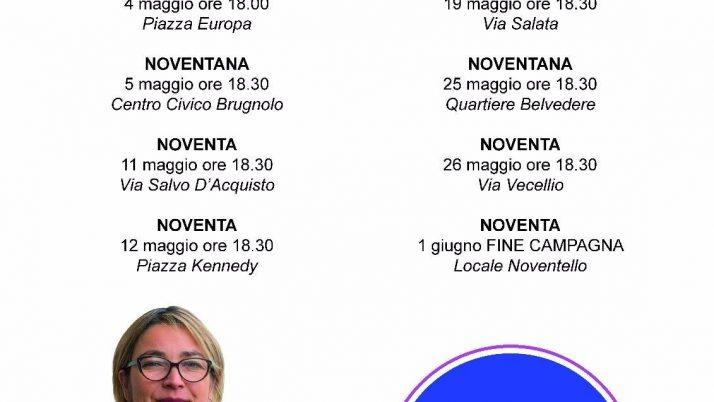 1° Incontro con il candidato Sindaco Giovanna Carraro della Lista Civica Noventainbuonemani