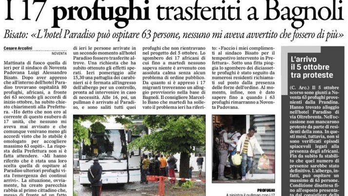 Il Gazzettino di Padova 12 maggio 2016