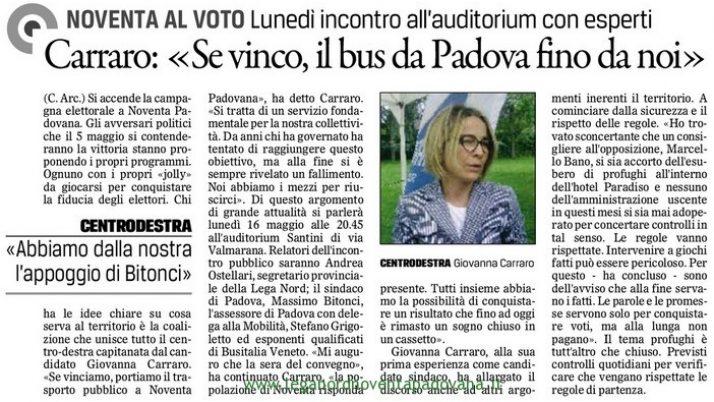 Il Gazzettino di Padova 13 maggio 2016