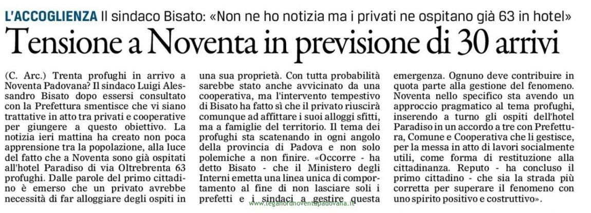 Il Gazzettino di Padova – 8 luglio 2016